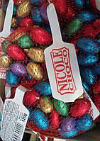 Шоколадные яйца для детей 120 гр Венгрия 14 шт в сеточке разные цвета 1шт - яйцо 3см на 2см
