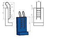 Лестница для бассейна (купели) Mixta 5 ступеней
