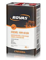 Полусинтетическое моторное масло Rovas 10w-40 Diesel A3/B4 4L