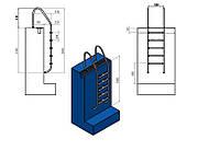 Лестница для бассейна (купели) Standart 5 ступеней