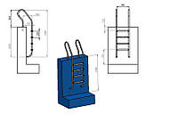 Лестница для бассейна (купели) Mixta 4 ступени