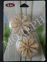 Магнит-подхват для штор Цветок цвет кремовый