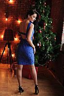 Коктейльное платье с открытой спиной (3цвета)