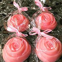 """Натуральное мыло """"Розовый шелк"""" для лица, рук, тела ручной работы"""