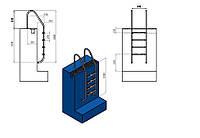 Лестница для бассейна (купели) Standart 4 ступени