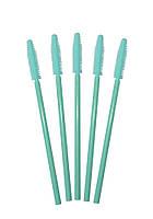Силиконовая щеточка для расчесывания ресниц, цвет мятный (цветная ручка)