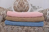 Детский вязаный плед для детской кроватки с натуральной подкладкой