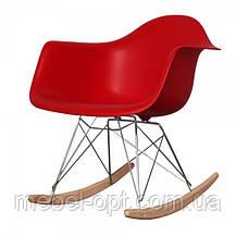 Кресло качалка пластиковое с буковыми полозьями Тауэр R, Реплика на кресло-качалку Eames RAR Style, , фото 3