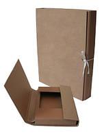 Папка коробка архивная для нотариуса А4 20мм с завязками