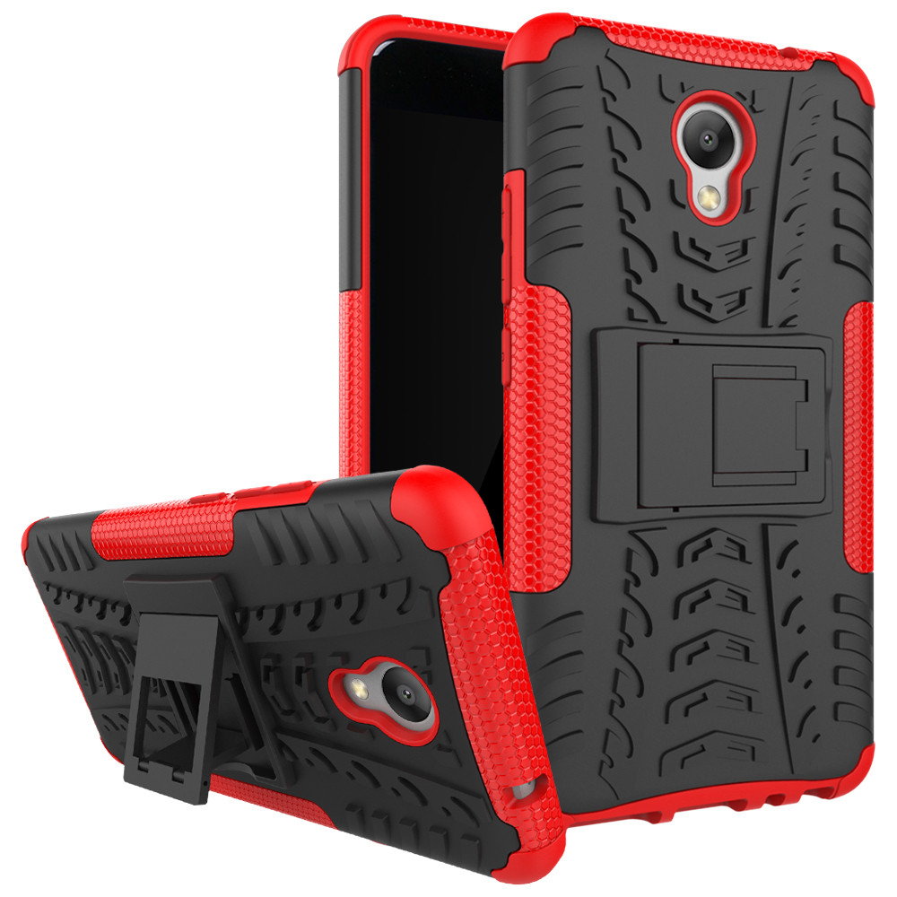 Чехол Meizu M5 Note противоударный бампер красный