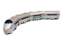 Игрушечный поезд 757p Экспрес на батарейках с 3-мя вагонами под слюдой 74*9*11см