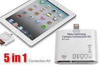 Адаптер кардридер Camera Connection Kit для iPhone 5 5S SE 6 6S Plus 7 8 / iPad Air / iPad mini