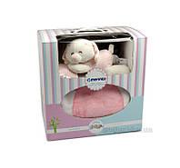 Плед детский Merinos Pink с игрушкой 128622 100х120 см