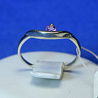 Кольцо с аметистом серебро 925 пробы кса 402