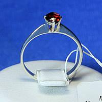 Родированное серебряное кольцо с гранатом ксг 1193