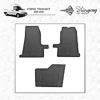 Коврики резиновые в салон Ford Transit c 2000 (3шт) Stingray