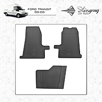 Коврики резиновые в салон Ford Transit с 2006 (3шт) Stingray