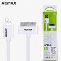 USB кабель pacer cable IPhone 4S/4 white REMAX