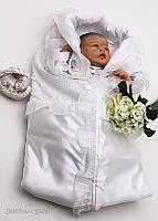 """Летний конверт одеяло-спальник """"Мелиса"""" белый, фото 1"""