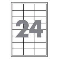 Самоклеющаяся бумага  (самоклейка) на 24 ячейки (64х34мм /100/ А4*24), фото 2
