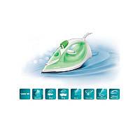 Утюг Philips GC1020 (паровой, 1800Вт, тефлон, зелено-белый)