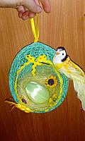 """Пасхальный подвесной декор """"Птичка и гнездо"""""""