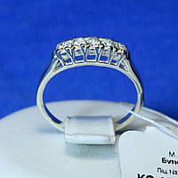 Серебряное кольцо с цирконом и родием кс 136, фото 1