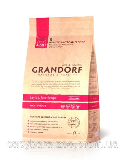Grandorf (Грандорф) Lamb & Rice Adult Indoor корм для кошек (2 кг) ягненок с рисом, фото 1