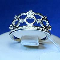 Кольцо в виде Короны серебро кс 1271