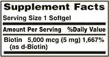 Биотин для волос Nature'sBounty, 5000 мкг, 72 быстрорастворимых таблетки, фото 2