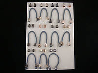 Концевики для шнурков (наконечники) золото