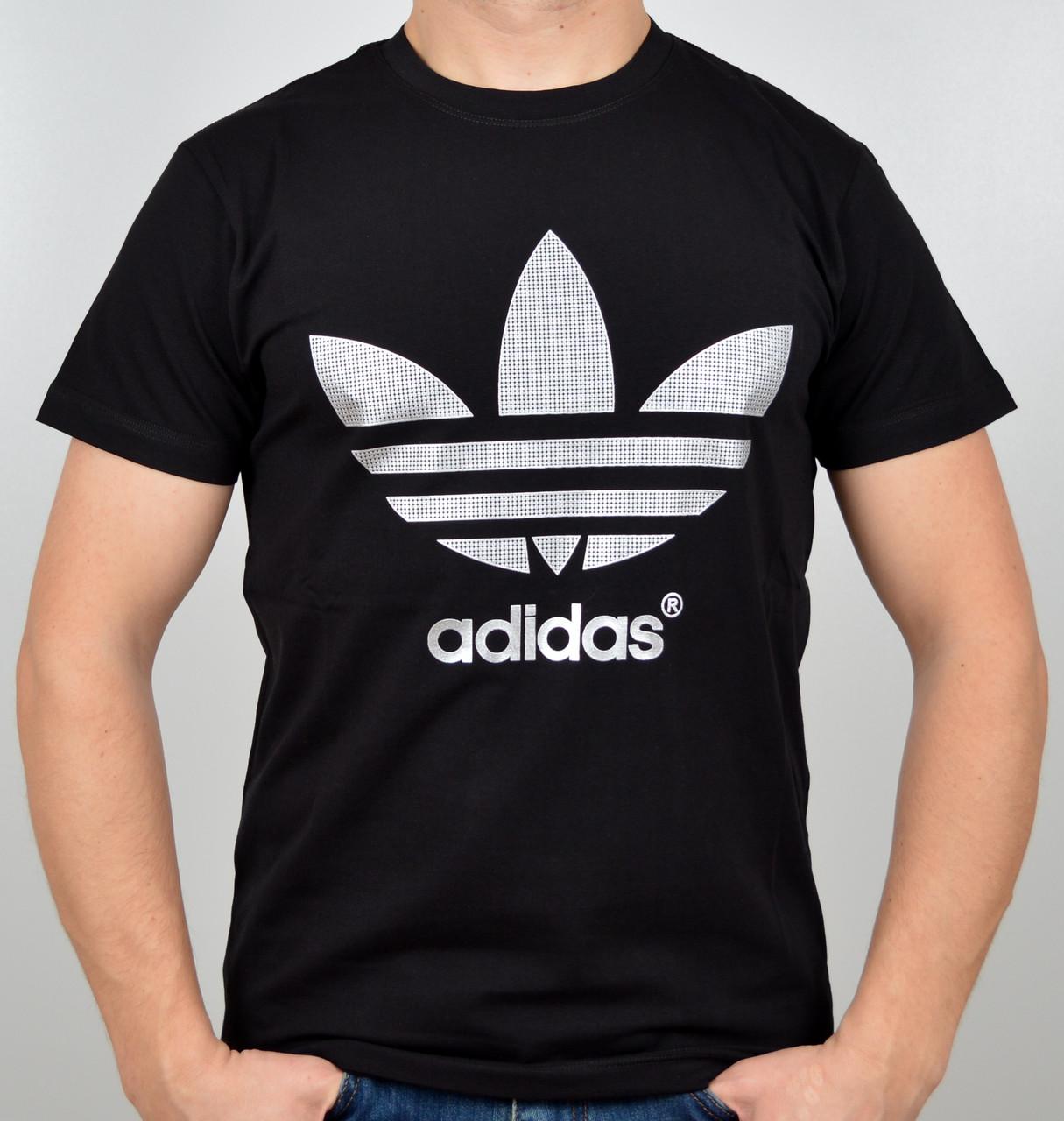 """Мужская футболка """"Adidas"""" A16-03 черный"""