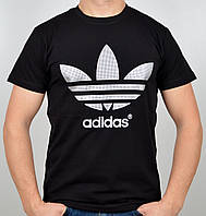 """Мужская футболка """"Adidas"""" A16-03 черный, фото 1"""
