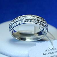 Серебряное кольцо с цирконом по кругу 18 р кс 1285.1, фото 1