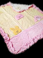 Плед-конверт из хлопка для новорожденных