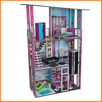 Дом для кукол KidKraft Glamour Гламур кукольный домик с мебелью 65192