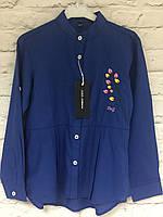 Блузка-рубашка для девочек 98-140