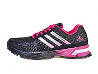 Женские кроссовки Adidas Marathon 10 (адидас марафон) черные