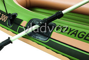 Лодка надувная с веслами двухместная Voyager 300 65051, фото 2