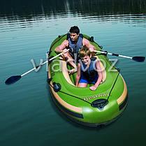 Лодка надувная с веслами двухместная Voyager 300 65051, фото 3