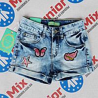 Шорты джинсовые с нашивками для девочки Hello Coccinelli  ИТАЛИЯ