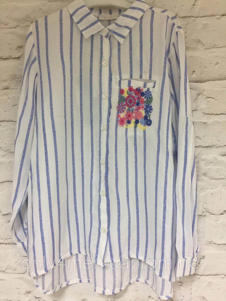 Рубашка-туника хлопок для девочек 116-164