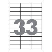 Самоклеющаяся бумага (самоклейка) с разбивкой на 33 ячейки (70х25,4мм /100/ А4*33) , фото 2