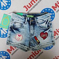Шорты на девочку  джинсовые с нашивками Hello Coccinelli ИТАЛИЯ