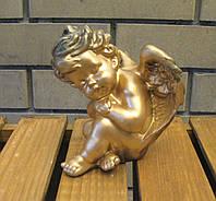Спящий ангел сидит спит бронза