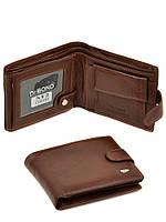 Бумажник мужской  из натуральной  кожи коричневый