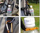 Фиксатор для бутылки / бутылко-держатель с карабином для крепления к рюкзаку или сумке (ДИАМЕТР: 25 ММ), фото 2