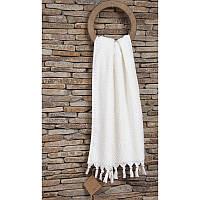 Махровое полотенце  из хлопка и тенсела 50х90 Buldans Cakil white