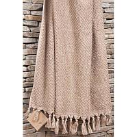 Махровое полотенце  из хлопка и тенсела 90х150 Buldans Cakil beige
