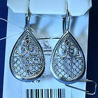 Серебряные серьги в восточном стиле сс 479